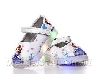 Яркие туфельки для девочки  с подсветкой р (21-25)
