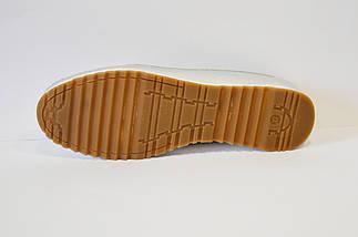 Мокасины серебристые кожаные Flipe, фото 3
