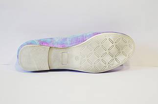 Лилово-серебристые мокасины женские Flipe, фото 2