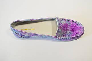 Лилово-серебристые мокасины женские Flipe, фото 3