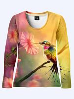 Женская кофта Птичка