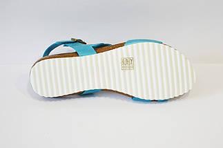 Голубые женские босоножки Presso 7842, фото 3