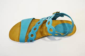 Голубые женские босоножки Presso 7842, фото 2
