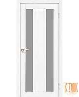 """Межкомнатная дверь коллекции """"Napoli"""" NP-01 со стеклом сатин (ясень белый)"""