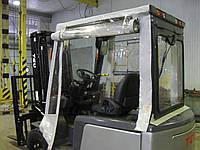 Мягкая кабина из прозрачной ПВХ пленки для погрузчика, фото 1