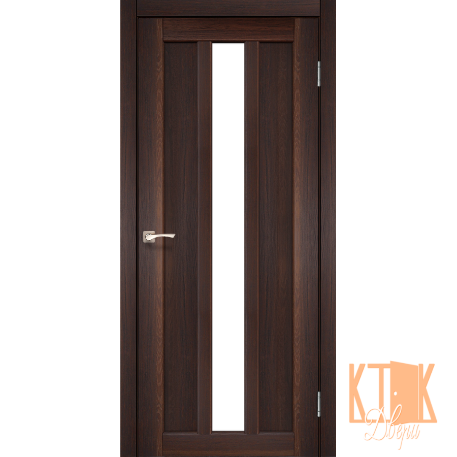 """Межкомнатная дверь коллекции """"Napoli"""" NP-03 со стеклом сатин (орех)"""