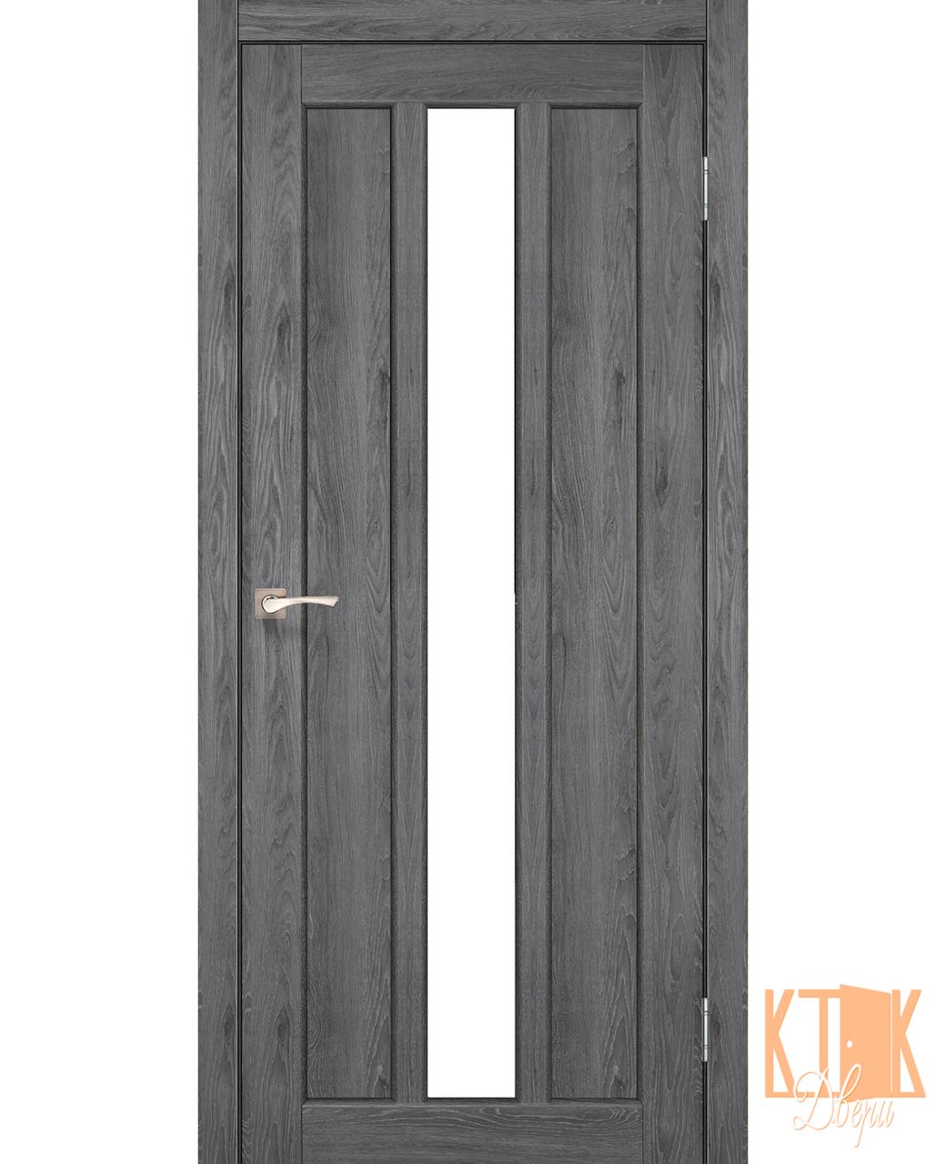 "Межкомнатная дверь коллекции ""Napoli"" NP-03 со стеклом сатин (дуб марсала)"