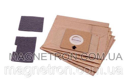 Набор мешков бумажных (5 шт) + фильтр мотора + выходной для пылесосов Gorenje 342253