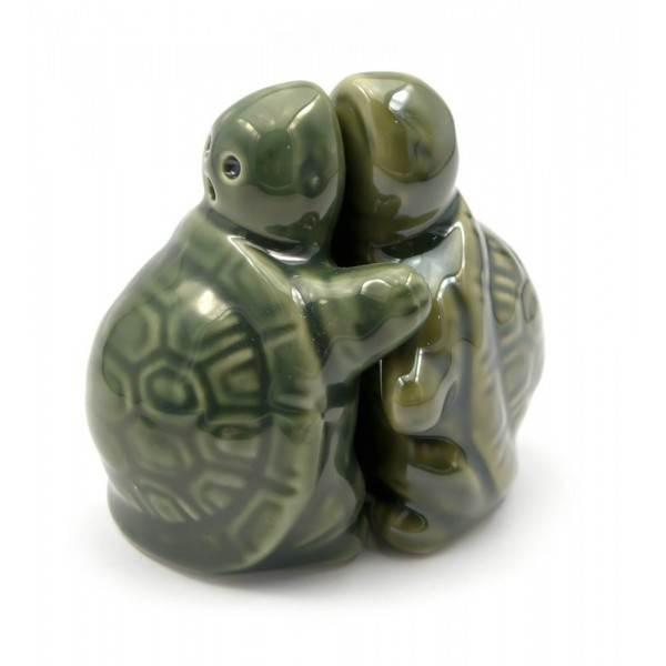 Солонка и перечница из керамики Черепахи