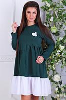 Платье женское ( 2-х нитка+коттон; р-ры 42 - 48 ), фото 1