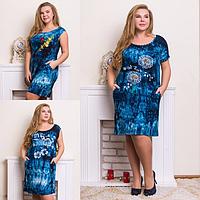 Платье женское ( вискоза; р-ры 50 - 58 )