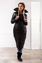 """Стеганое женское пальто на синтепоне """"SLIM"""" с карманами, фото 3"""