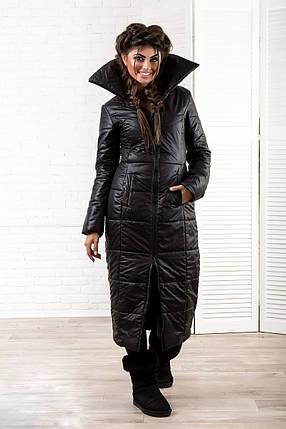 """Стеганое женское пальто на синтепоне """"SLIM"""" с карманами, фото 2"""