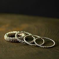 Плетеные кольца из скани, фото 1