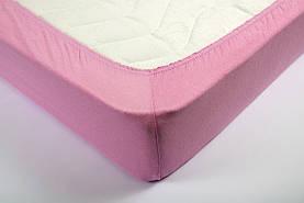 Трикотажная простынь на резинке  Lotus розовая 160*200