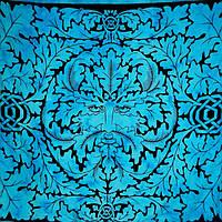 """Покрывало """"Отец Природы"""" голубое 100% хлопок (210х240 см)"""