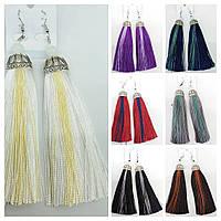 Двухцветные серьги подвески, восточные серьги кисти (7 цветов) оптом 2246