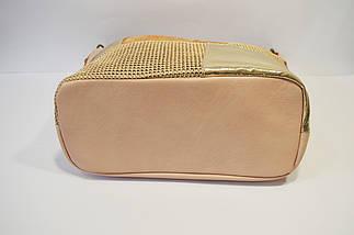Розово-золотистая женская сумка Batty 6312, фото 3