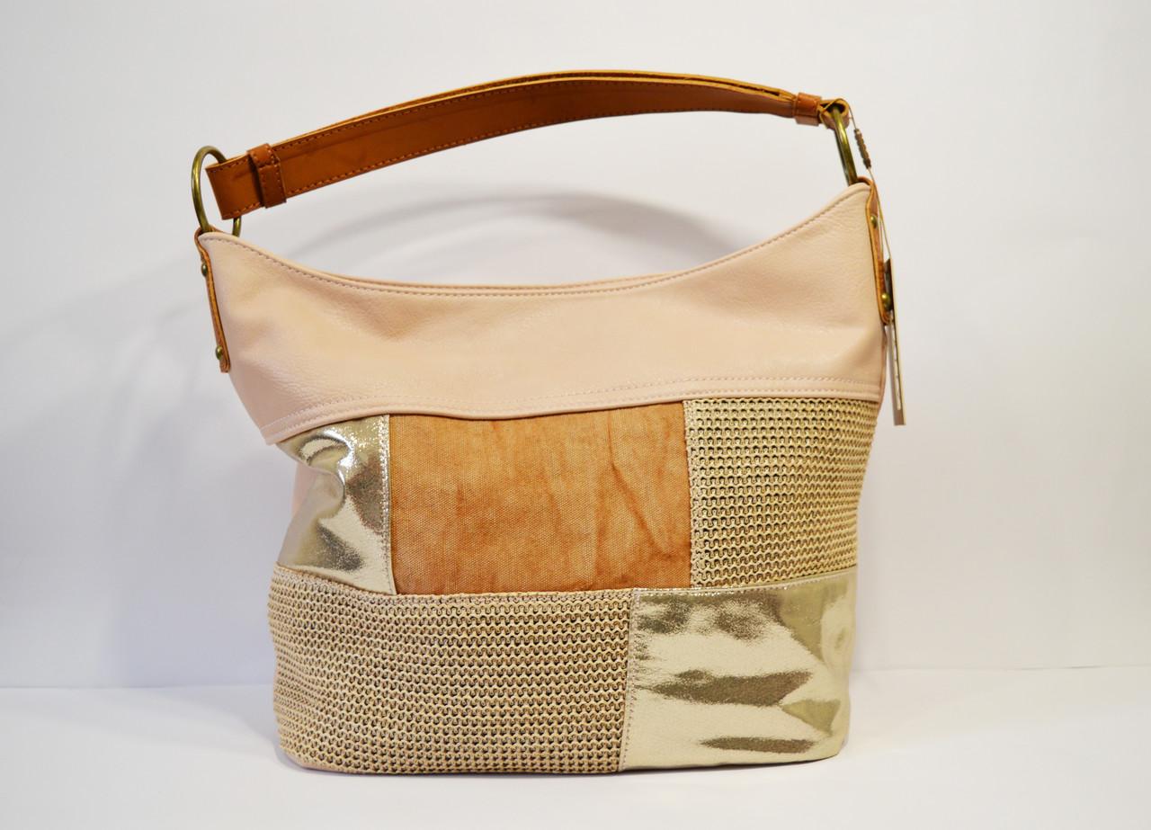 Розово-золотистая женская сумка Batty 6312