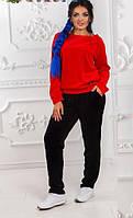 Костюм велюровый женский батал  р1529, фото 1