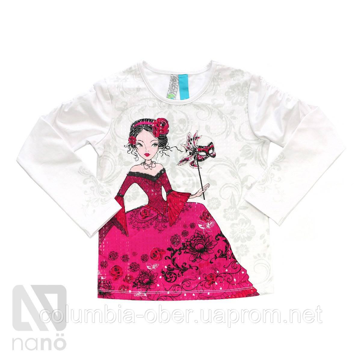 Блуза для девочки Nano F1424-09 White. Размеры 92-142.