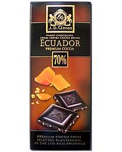 Шоколад J.D.Gross чёрный 70% какао с карамелью 125 г