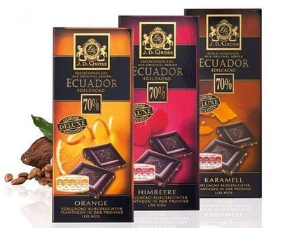 Шоколад J.D.Gross 56%  EDEL Zartbitter CHILI 125 г , фото 2