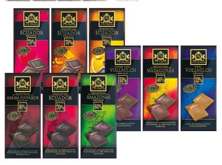 Шоколад J.D.Gross экстра чёрный 81% какао 125 г, фото 2