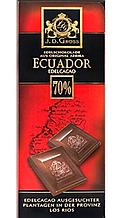 Шоколад  J.D. Gross Ecuador Cocoa черный 70% какао 125 г