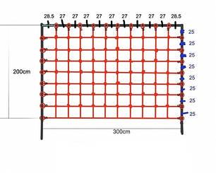 Сетка гладиаторская для лазанья 200 x 300 см S-Hook на детскую площадку, фото 2