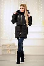 """Стеганое женское зимнее пальто """"ALYASKA"""" с поясом и капюшоном (3 цвета), фото 3"""