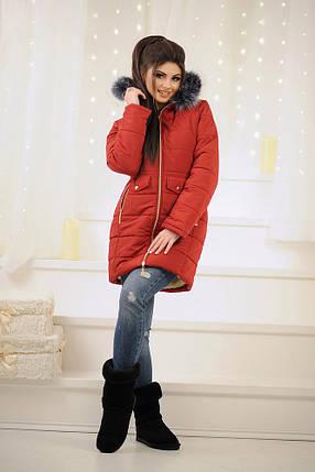 """Стеганое женское зимнее пальто """"ALYASKA"""" с поясом и капюшоном (3 цвета), фото 2"""