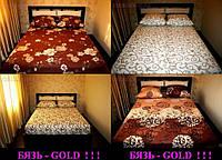 Двуспальная простынь Gold абстракция