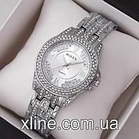 Женские наручные часы Rolex M123 на металлическом браслете