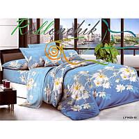 Двуспальное постельное белье белые цветы