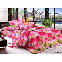 Двуспальное постельное белье алые цветы