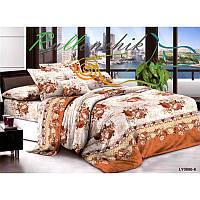 Двуспальное постельное белье - коричневые цветы