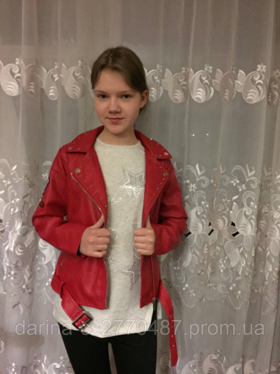 Куртка косуха из кожзама для девочки 10,16 л