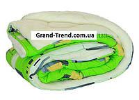Одеяло полуторное из овечьей шерсти Лери Макс зеленое