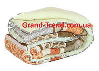 Одеяло полуторное из овечьей шерсти Лери Макс светло-коричневое