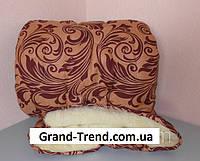 Одеяло полуторное из овечьей шерсти Лери Макс коричневое