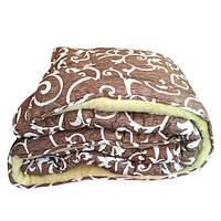 Одеяло полуторное из овечьей шерсти Лери Макс вензель штрих
