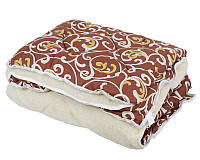 Полуторное одеяло из овечьей шерсти Лери Макс вензеля