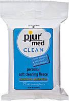 Очищающие влажные салфетки pjur med CLEAN, 25 штук