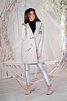 """Женское шерстяное пальто """"FLY DUDE"""" с вышивкой и карманами"""