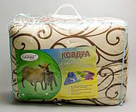 Одеяло полуторное из овечьей шерсти - кофе на молоке