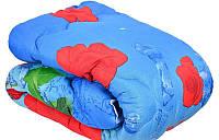 Ковдра двоспального розміру з овечої вовни - червоні квіти