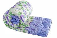 Ковдра двоспального розміру з овечої вовни бузкові квіточки