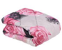 Ковдра двоспальне з овечої вовни - Троянди