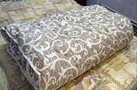Ковдра двоспальне з овечої вовни вензель штрих